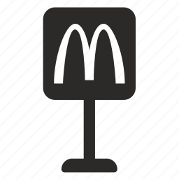 donalds, mc, road, sign icon