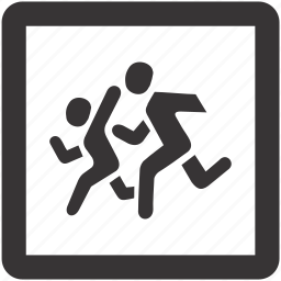 children, road, sign, transportation icon