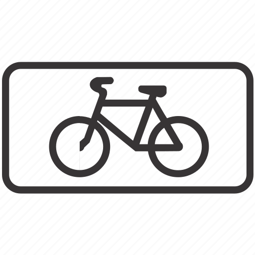 bicycle, bike, cycle, road, sign icon