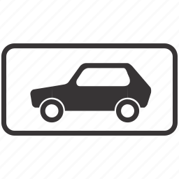 car, road, sign icon