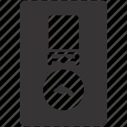 dangerous, hazardous, left, load, road, sign icon