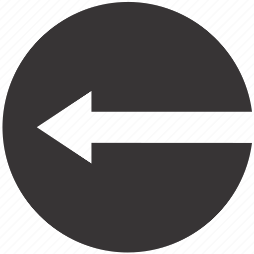 arrow, left, road, sign icon