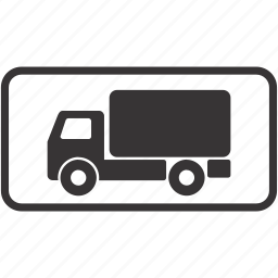 lorry, road, sign, truck icon