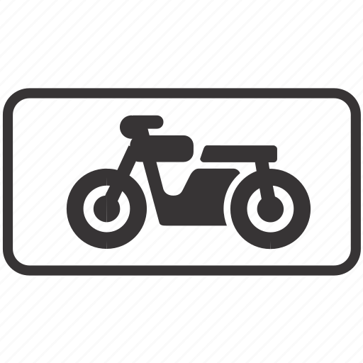 motorcycle, road, sign icon