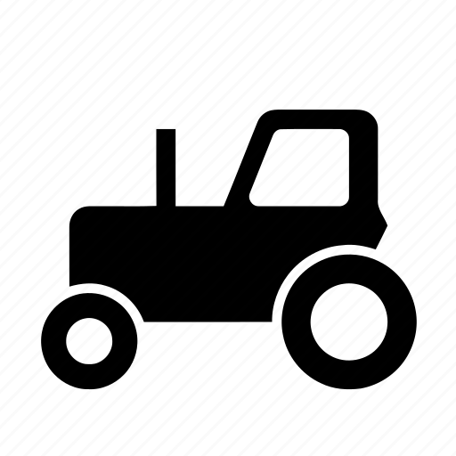black tractor, farm, fine tractor, good tractor, nice tractor, road, road sign, tractor, wall tractor icon