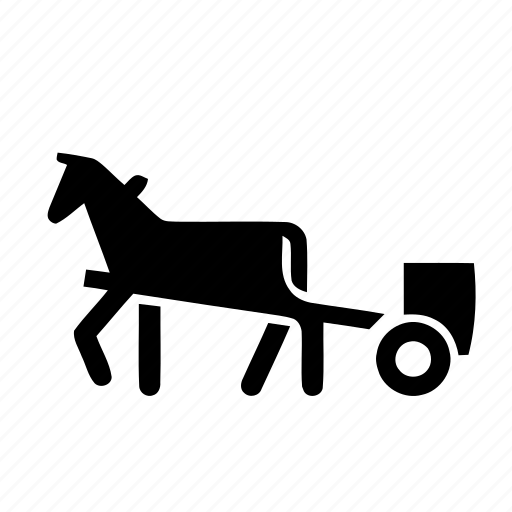 animal, cartage, deliver, farm, forward, gharry, horse, move, road sign, ship, transport icon