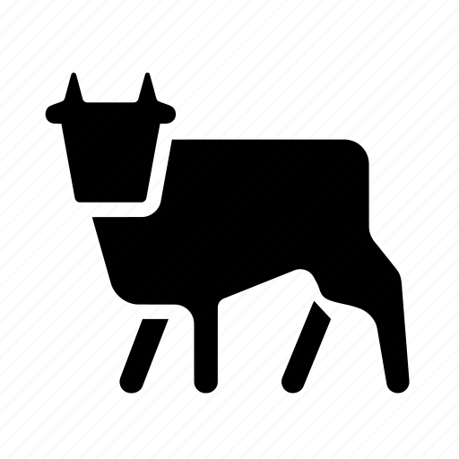 animal, animals, burden, cow, farm, imprint, meat, moon, object, road sign, this day icon