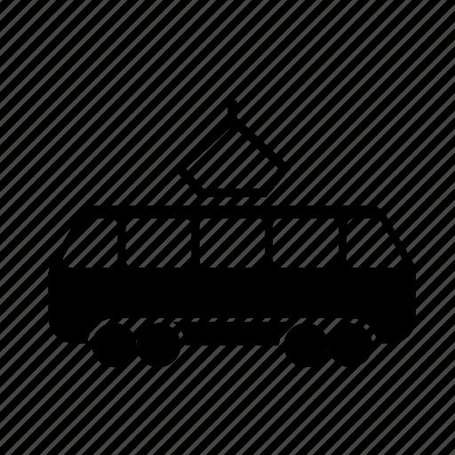 car, carriage, electric, rails, railway, road sign, train, tram, transportation, travel icon