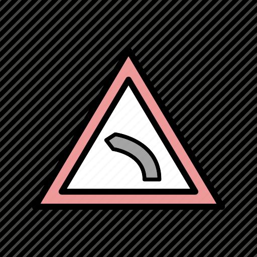 arrow, bend, right icon