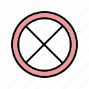 closed, danger, road, stop icon