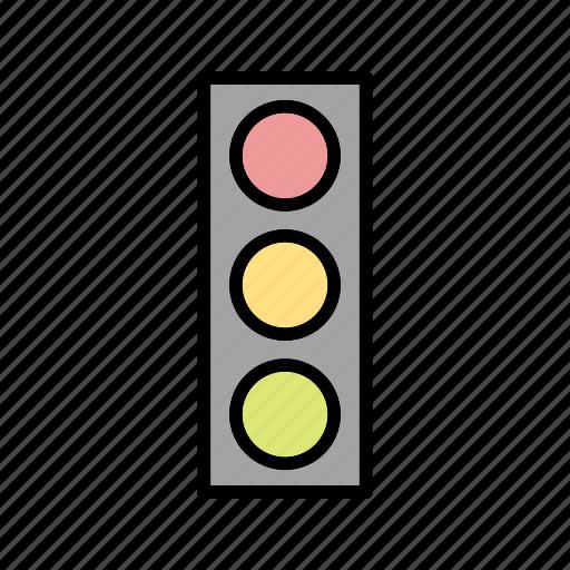signal, traffic, transport icon