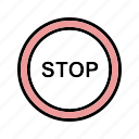 attention, danger, stop icon