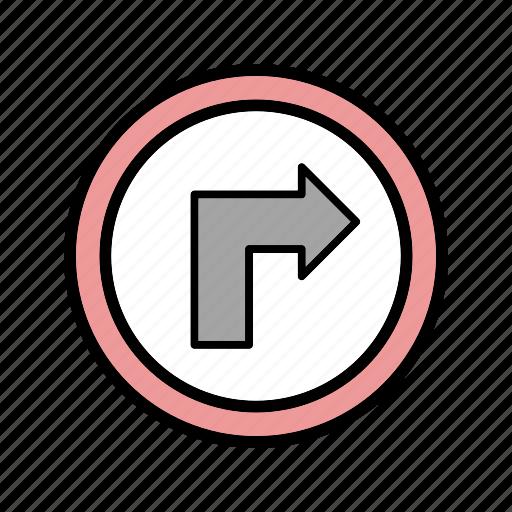 arrow, right, right turn icon