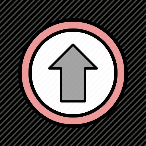 arrow, go, straight icon