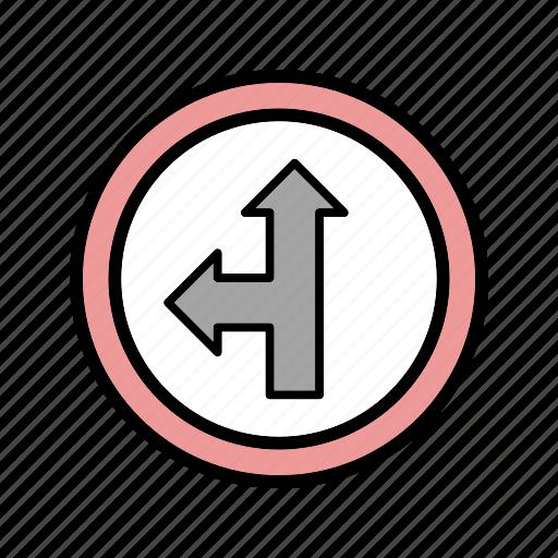 go, left, straight icon