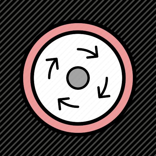 circle, compulsory, roundabout icon