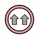 give way, road, way icon