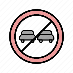 over taking, road sign, stop icon