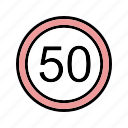 dashboard, sign, speed limit icon