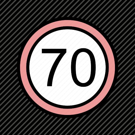 dashboard, limit, speed limit icon