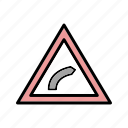 bend, direction, left icon