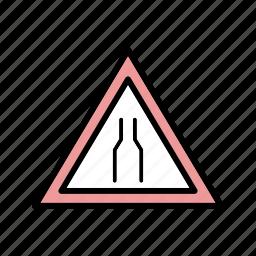 carriageway, narrow, narrow carriageway icon