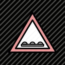 attention, road, un even road icon