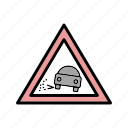 gravel, lose, transport icon