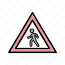 crossing, pedestrian, traffic icon