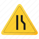 one, road, sign, yellow icon