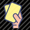 card, double, football, foul, soccer, sport, yellow card