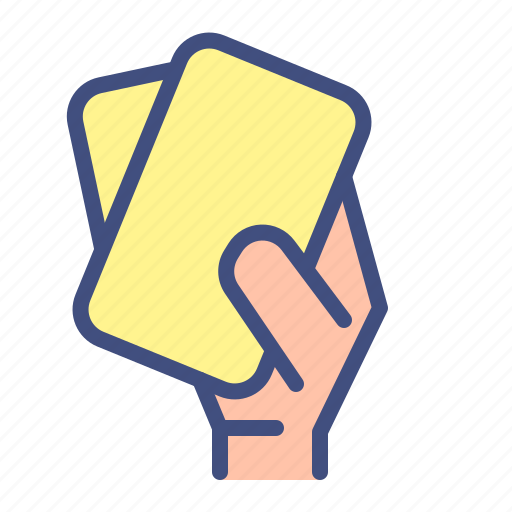 card, double, football, foul, soccer, sport, yellow card icon
