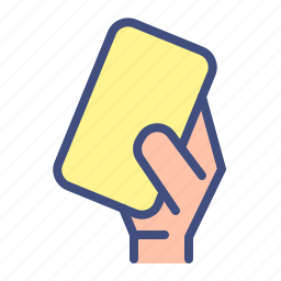 football, foulsoccer, sport, yellow card icon