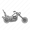 chopper, motorcycle, motorbike