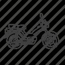 mooped, motorcycle, motorbike, scooter, bike, cycle