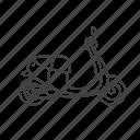 scooter, transport, vehicle, motorcycle, bike, transportation, motorbike