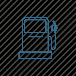 fuel, gas station, gasoline, nozzle, petrol, pump, roadtrip icon
