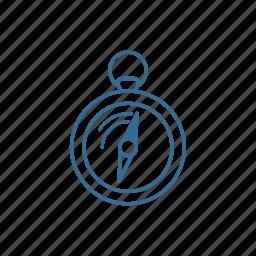 arrow, compass, direction, location, north, orientation, roadtrip icon