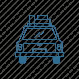 car, roadtrip, transport, travel, trip, vacation icon