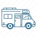 camper, caravan, roadtrip, vacation, van, vehicle icon