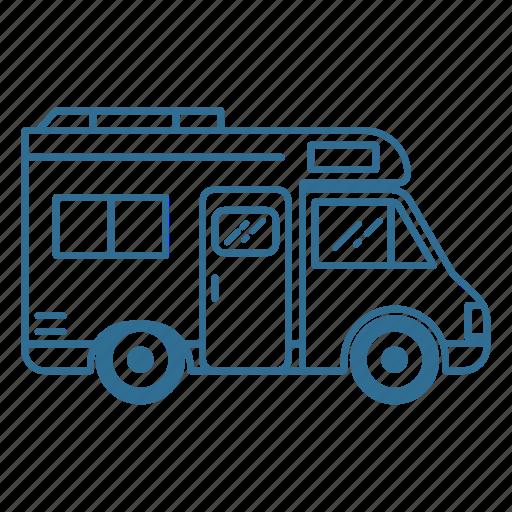 camper, caravan, roadtrip, vacation, van, vehicle icon