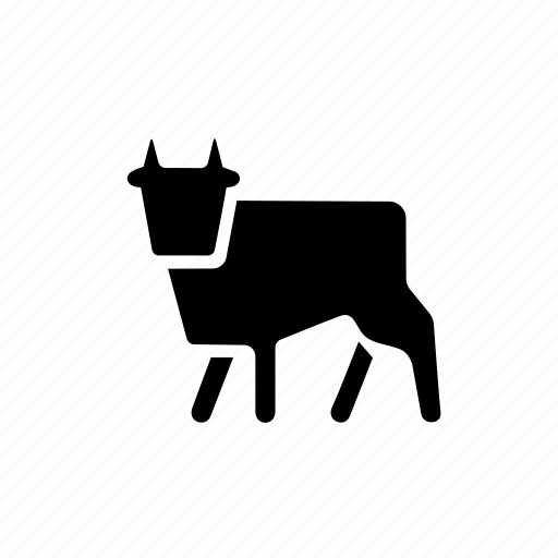 agro, animal, bull, cattle, cow, farm, oxen icon
