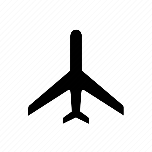 air, airplane, airport, flight, jet, plane, transportation icon