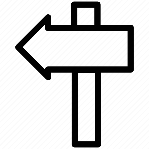 directional arrows, directions, guideposts, left direction, left side, pointers, signposts icon