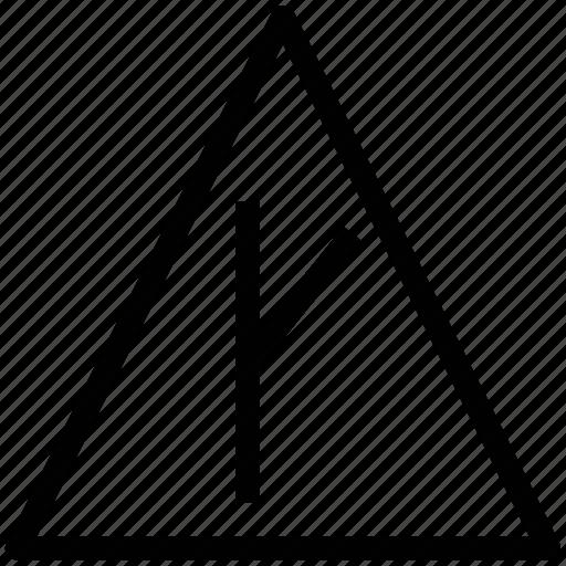 angle, arrow, break, right, right arrow, road, side, turn right icon