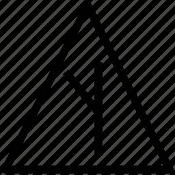 angle, arrow, break, left, left arrow, road, side, turn left icon