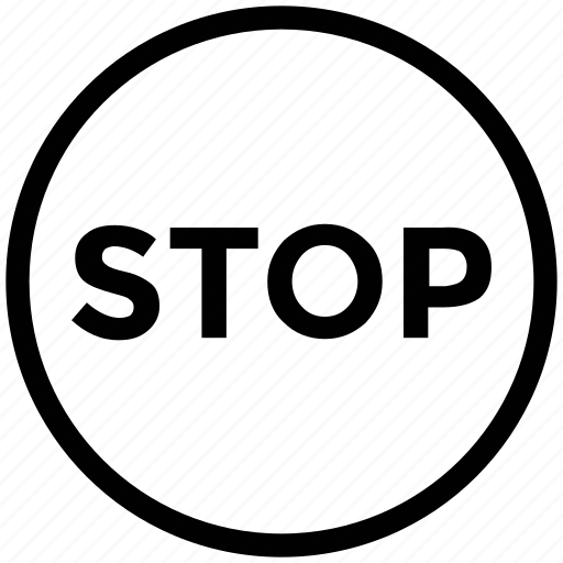 drive stope, pause, sign, stop, stop sign, stope symbol icon