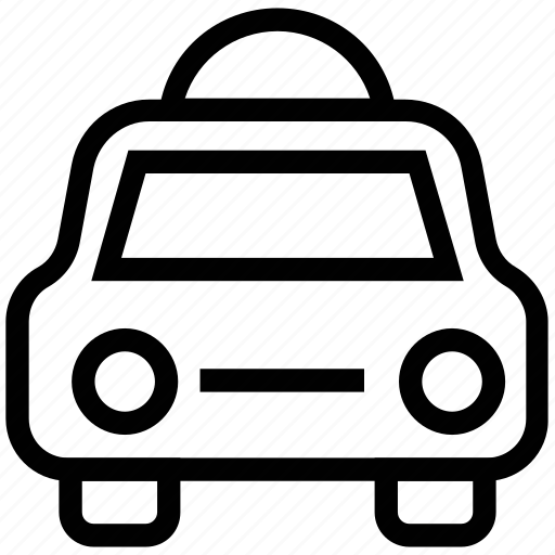 auto car, cab, taxi, taxicab, vehicle, vehicle for hire icon