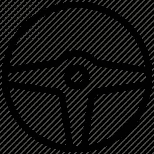 car drive, car steering, navigation, steering, wheel icon