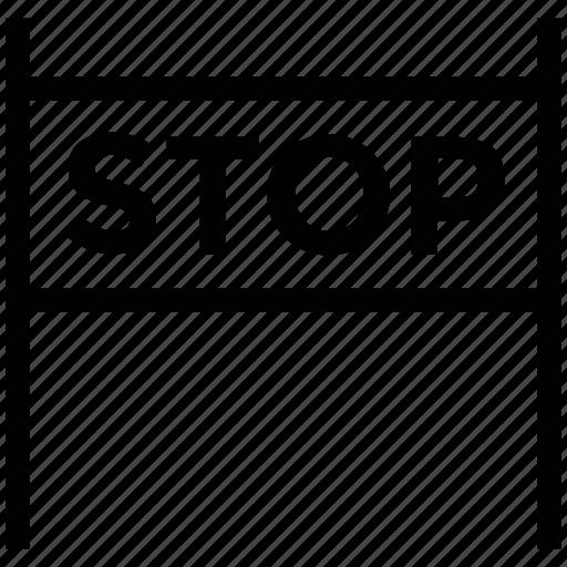 forbidden, highway, repairing, roadblock icon